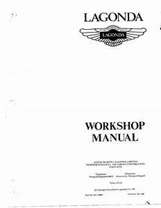 Lagonda Workshop Manual Pdf  5 29 Mb
