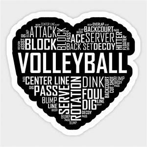 Love, Volleyball, Heart, -, Volleyball