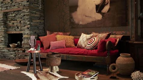 canape rouge  interieur colore westwing