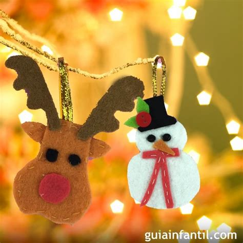 adornos de fieltro para el 225 rbol de navidad manualidades