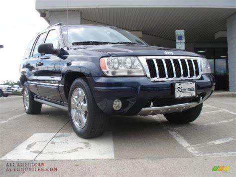 blue grey jeep cherokee 2004 jeep grand cherokee overland 4x4 in midnight blue