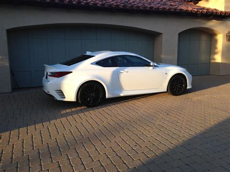 lexus rc f matte black ultra white with matte black wheels pics please