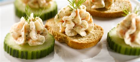 smoked salmon mousse canapes recipe dairy goodness