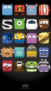 Disney iPhone 5 app skins wallpaper