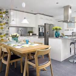 kitchen dining decorating ideas kitchen diner ideas on diners open plan and shaker kitchen
