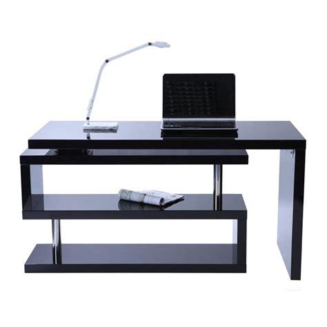 bureau noir design bureau design noir laqué amovible max achat vente