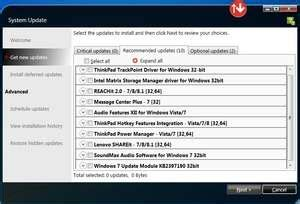 Click on the download button to start downloading the selected updates. Lenovo System Update - Download