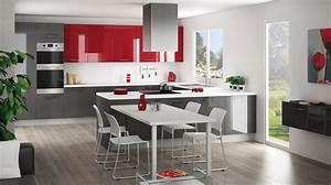 Dco Cuisine Rouge Et Gris Free Deco Chambre Ado En