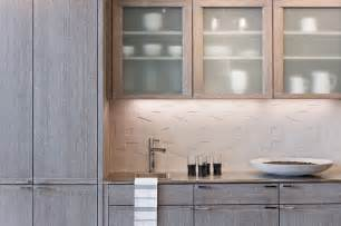 mizuki in cerused grey contemporary kitchen boston