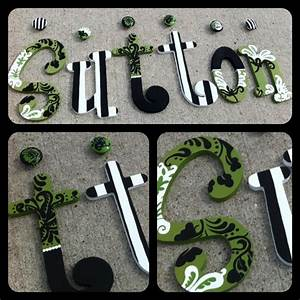 1000 images about custom hand painted wooden letters on With custom wooden letters for walls