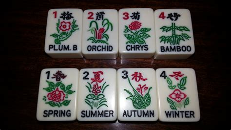 mah jong tiles flowers on mah jongg tiles mahjonggmentor