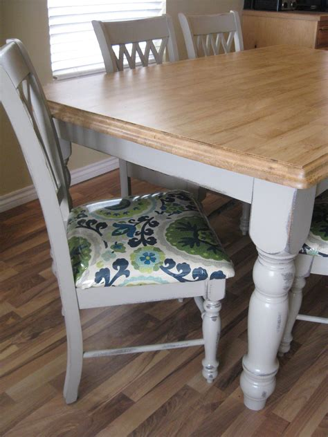 recovering dining chairs painted grey table  stained