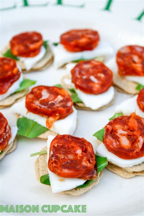 canape z chorizo canapes recipe with mozzarella and rocket