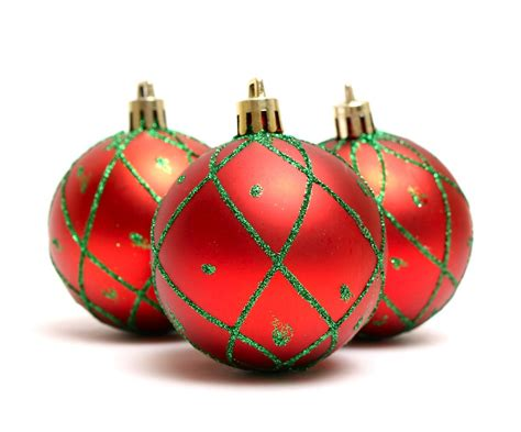 8 red christmas ornaments merry christmas