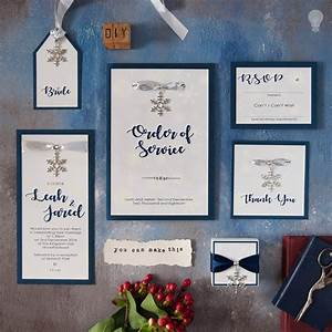 How to make winter theme wedding stationery with snowflakes for Easy diy wedding invitations instructions