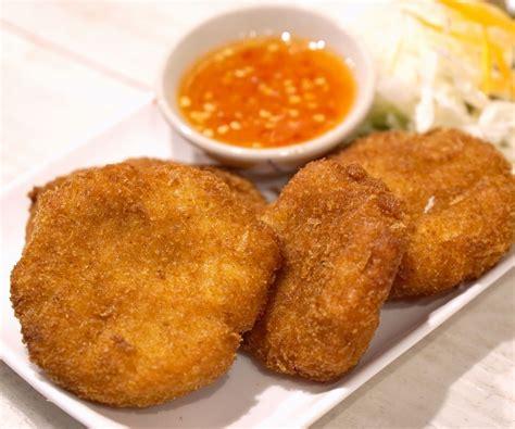 tod man goong deep fried shrimp cake thai