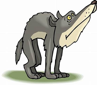Wolf Cartoon Clipart Wolves Wolfs Drawings Animated