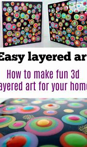 Fun blob or circle painting idea. Layers of paints give a ...