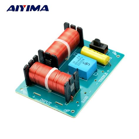 aiyima 2pcs pro audio 2way crossover filters 2 unit hifi speaker frequency divider in lifier