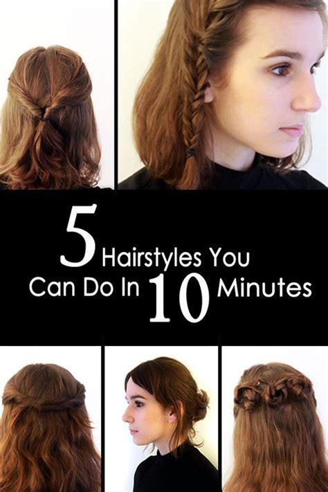quick easy hairstyles      minutes photo album sofeminine