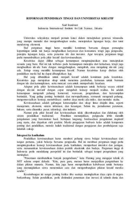 Contoh Essay Ilmiah Populer Pdf - Contoh Wa