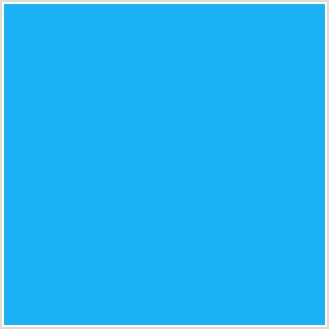 1bb3f5 hex color rgb 27 179 245 dodger blue light