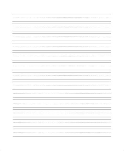lined paper  sample  examples