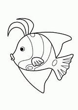 Coloring Pages Animals Fish Printable Cartoon Funny 4kids Animal Sheets Fishing Drawing Sea sketch template