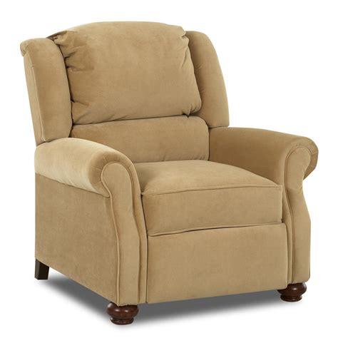 klaussner high leg recliners high leg recliner