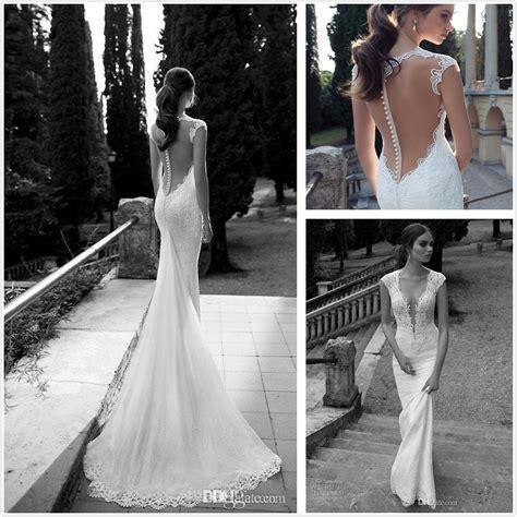 Berta Winter 2014 Lace Sheer Wedding Dresses Deep V Neck