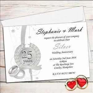 25th wedding anniversary invitations templates mini bridal With 25th wedding anniversary invitations spanish
