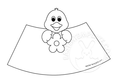 easter cone paper toys chick easter template
