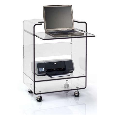 bureau pour pc portable et imprimante meuble pour ordinateur portable et imprimante table de lit