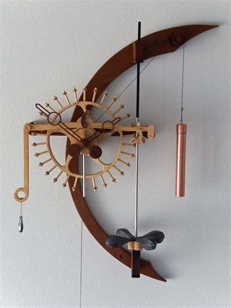 wooden gear clock plans  dxf plans diy  desk plans woodshop tearfulgyf