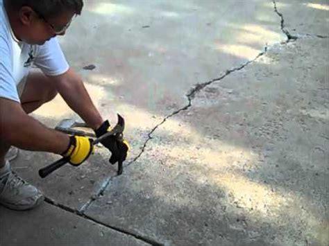 concrete crack repair  driveway youtube