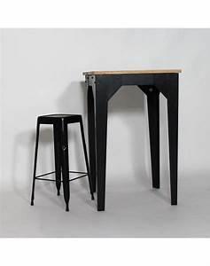 Table Mange Debout Style Industriel : table mange debout bois et m tal industrielle made in meubles cuisine pinterest ~ Melissatoandfro.com Idées de Décoration