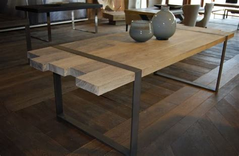 fabriquer meuble haut cuisine table a manger industrielle acier et bois