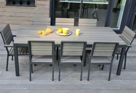 2 chaises de jardin bois composite BROOKLYN - Mobilier jardin pas cher