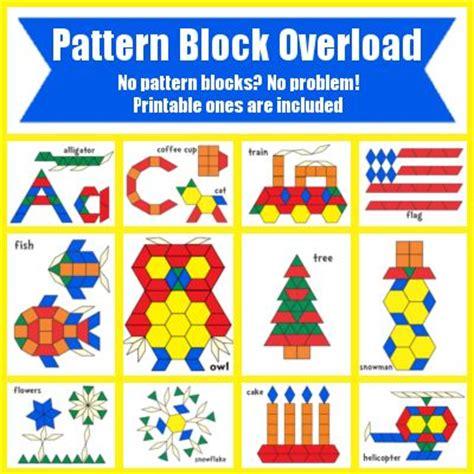pattern block templates worksheets printables