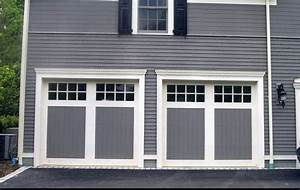 Installing carriage style garage doors to improve your for Carriage style garage doors with windows