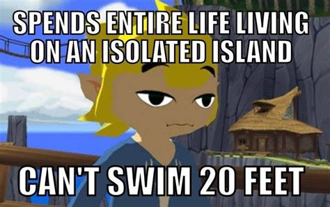 Wind Waker Memes - i wondered this for years swim drown and islands