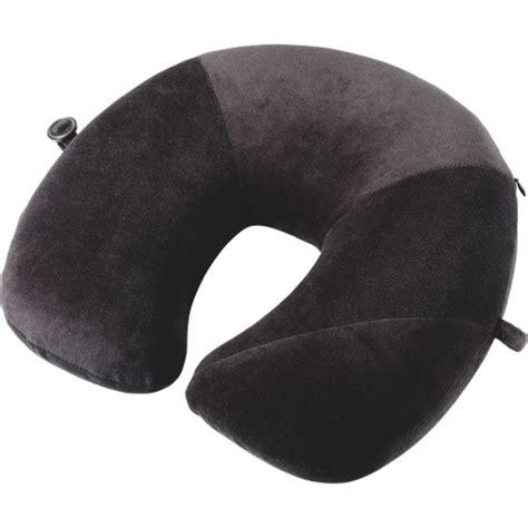 go go pillow go travel memory foam neck pillow black travel pillows