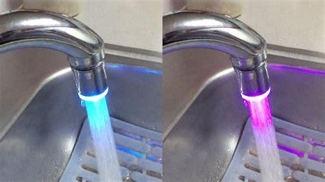 dealpeak  colors led lights tap faucet  kitchen