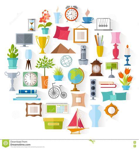 vector home decor interior design stock vector