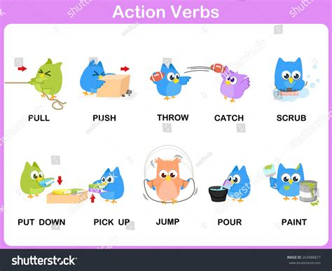 Clipart Action Verbs Collection