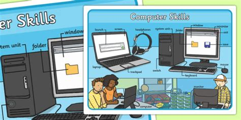 How To Show Your Computer Skills On A Resume by Computer Skills Large Display Poster Computer Skills