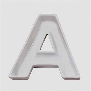 a shape ceramic letter dishes plates for candy ideas With clear letter candy dishes