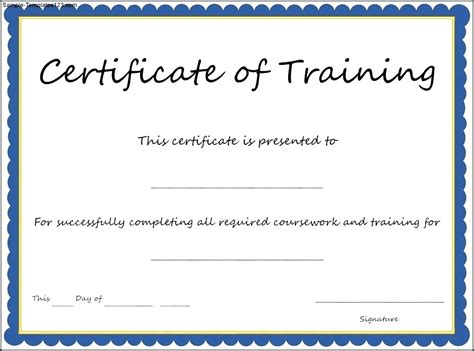 traininb certificate template template sle training certificate template