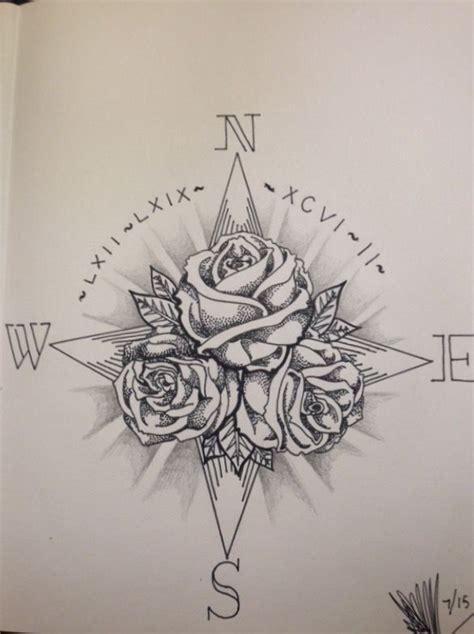compass rose tattoo ideas  pinterest compass