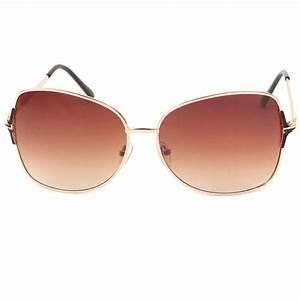 Lunette De Soleil Femme Solde : achat lunette de soleil femme dor et marron babe site lunettesloupe ~ Farleysfitness.com Idées de Décoration